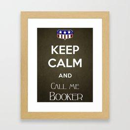 Call me Booker Framed Art Print