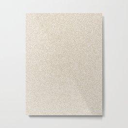 Melange - White and Khaki Brown Metal Print