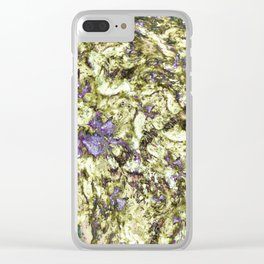 Eroded reflections Clear iPhone Case