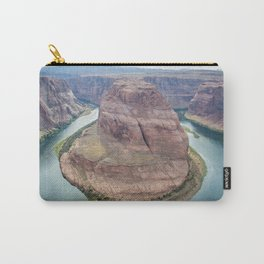 Horseshoe Bend | Nature Landscape Photography of Sunset Over Canyon River in Arizona Carry-All Pouch