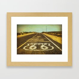Route 66 Road Marker Framed Art Print