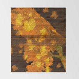 Golden Fall Throw Blanket