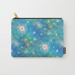 Blues Rainbow Florals Carry-All Pouch