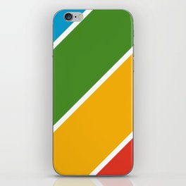 Colorful Diagonal Stripes iPhone Skin