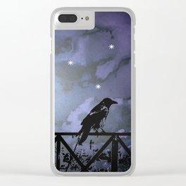 Fantasy Dark Night Scene Illustration Clear iPhone Case