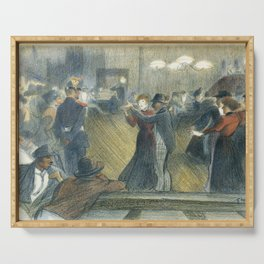 """Théophile Steinlen """"Le Bal Musette: The Dance"""" Serving Tray"""