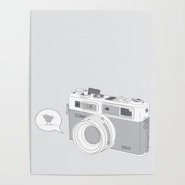 Yashica Camera - blue bird Poster