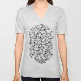 Surveillance Frenzy Unisex V-Neck