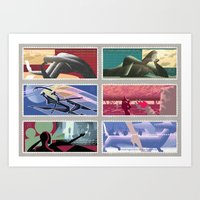 New romantics postage stamps Art Print
