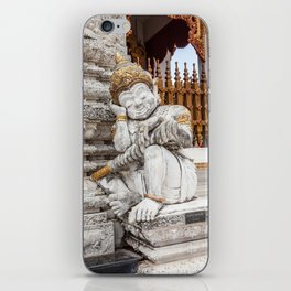 sleeping guardian of the temple iPhone Skin