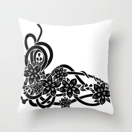 Abstract floral ornament Throw Pillow