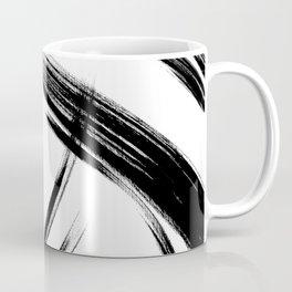 Black Abstract Brush Strokes nr 8 Coffee Mug