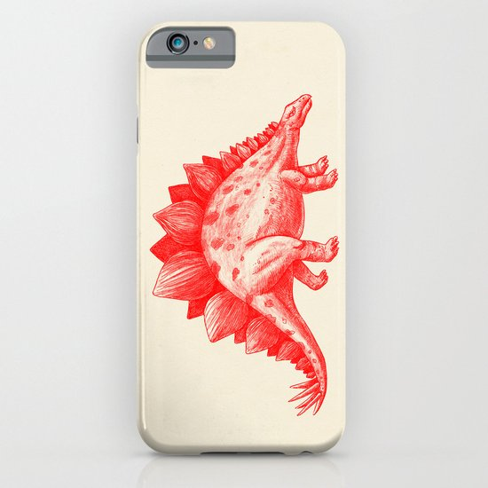 Red Stegosaurus  iPhone & iPod Case