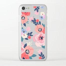 Aurora Floral Clear iPhone Case