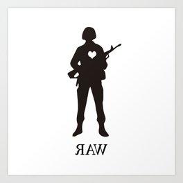 Raw Love Art Print