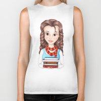 hermione Biker Tanks featuring Beauty Granger. Belle / Hermione crossover by Missy Corey