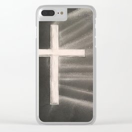 Light Shines Through Darkness Clear iPhone Case