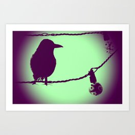 Fly to the right Art Print