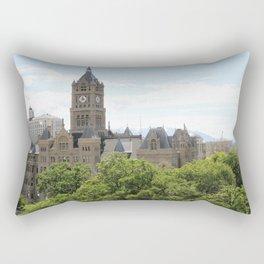 Clock Tower Town Rectangular Pillow