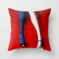 legs Throw Pillows featuring Legs by Ed Pires