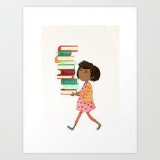 Library Girl 4 Art Print