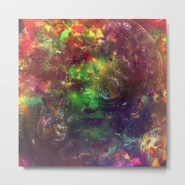 Robo Molly: Color escape Metal Print