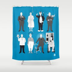 ALFRED'S FAVORITE CAMEOS Shower Curtain
