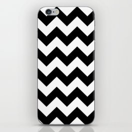 BLACK AND WHITE CHEVRON PATTERN - THICK LINED ZIG ZAG iPhone Skin