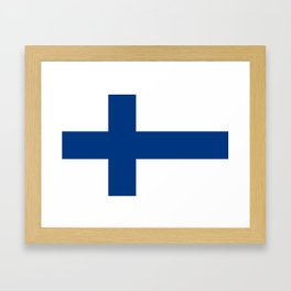 Flag of Finland - High Quality Image Framed Art Print