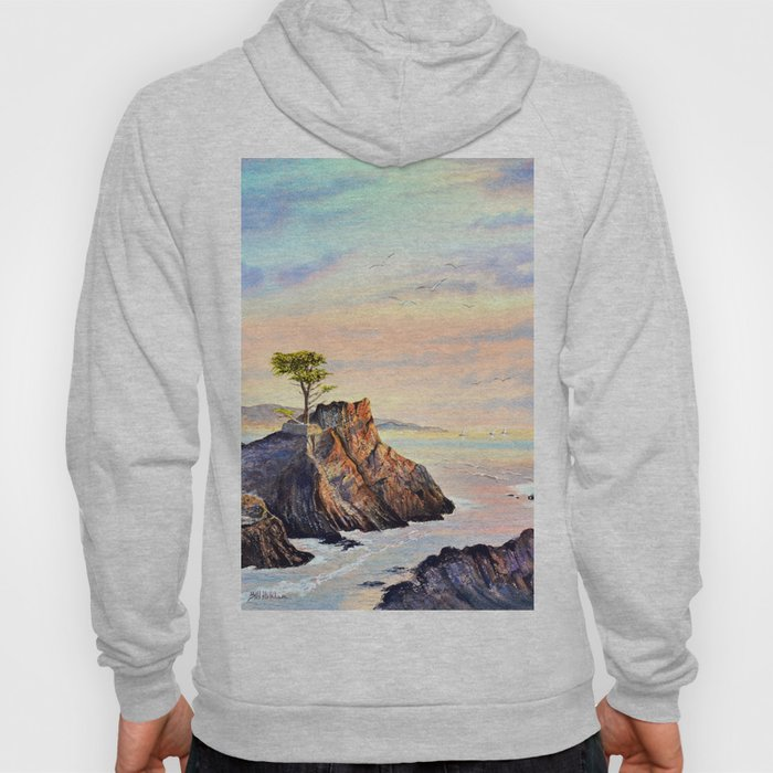 Pebble Beach Lone Cypress Tree Hoody