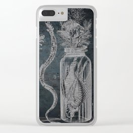 Victorian Zoological Study, Ocean life Specimens - Vintage Art Collage Clear iPhone Case