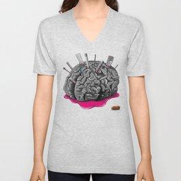 Sketchy Brain Unisex V-Neck