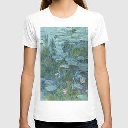 Monet, Water Lilies, Nympheas, Seerosen, 1915 T-shirt