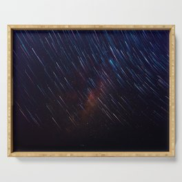 The Galaxy Rains (Color) Serving Tray
