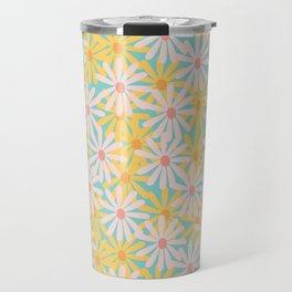 Retro Sunny Floral Pattern Travel Mug