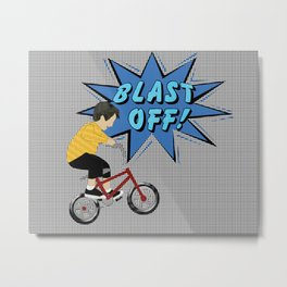 Pop a Wheelie Metal Print