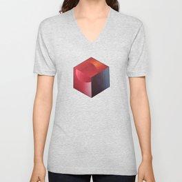 Spectrum cube Unisex V-Neck