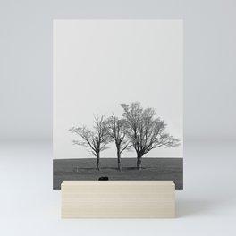 Three Trees and a Bull Mini Art Print