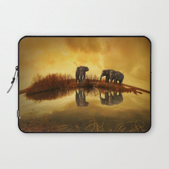 The Herd (Elephants) Laptop Sleeve