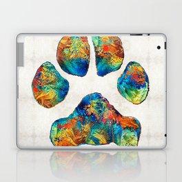 Colorful Dog Paw Print by Sharon Cummings Laptop & iPad Skin
