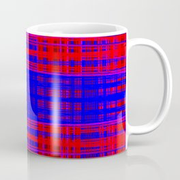 uneven grids, blue and red Coffee Mug