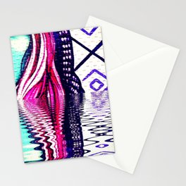 Woman in the water Stationery Cards