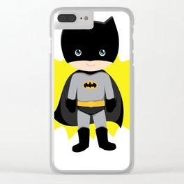 Superhero woman Clear iPhone Case
