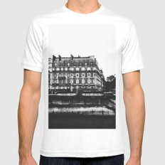 Along the bank MEDIUM White Mens Fitted Tee
