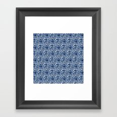 Big Shells: Navy Framed Art Print