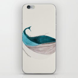 there´s a whale  iPhone Skin