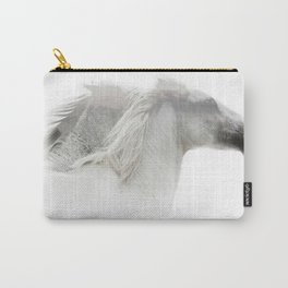 Double Exposure horses Carry-All Pouch