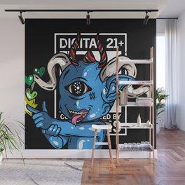 Blue alien Wall Mural