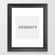 Affinity Framed Art Print