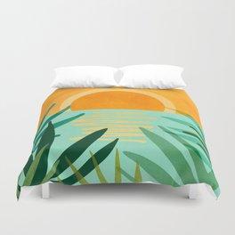 Peaceful Tropics / Sunset Landscape Duvet Cover